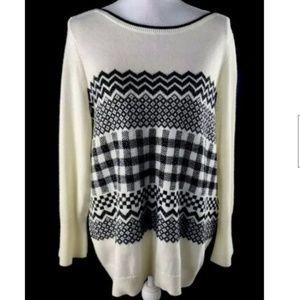 Talbots Sweater Slightly Bell Sleeves Wool Blend